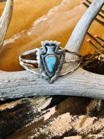 Sterling Silver and Turquoise Arrowhead Cuff Bracelet