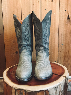 Load image into Gallery viewer, El Dorado Exotic Cowboy Boots W Sz 9.5