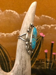 Sterling Silver and Turquoise Rain Drop Ring