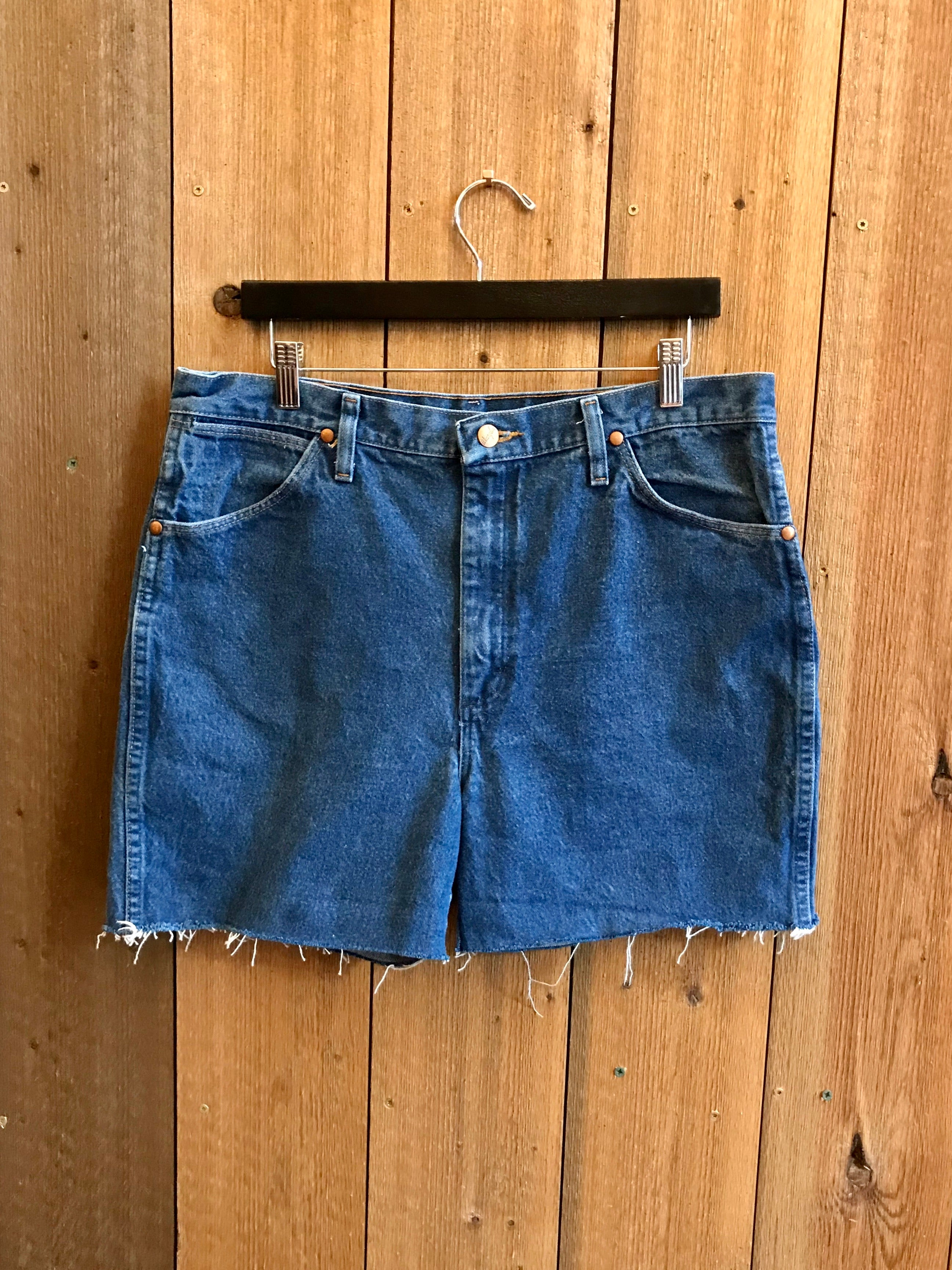 Vintage Denim Shorts Waist Sz 35""