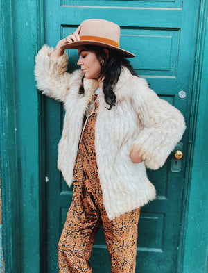 Vintage Women's Blue Fox Fur Coat Sz S/M