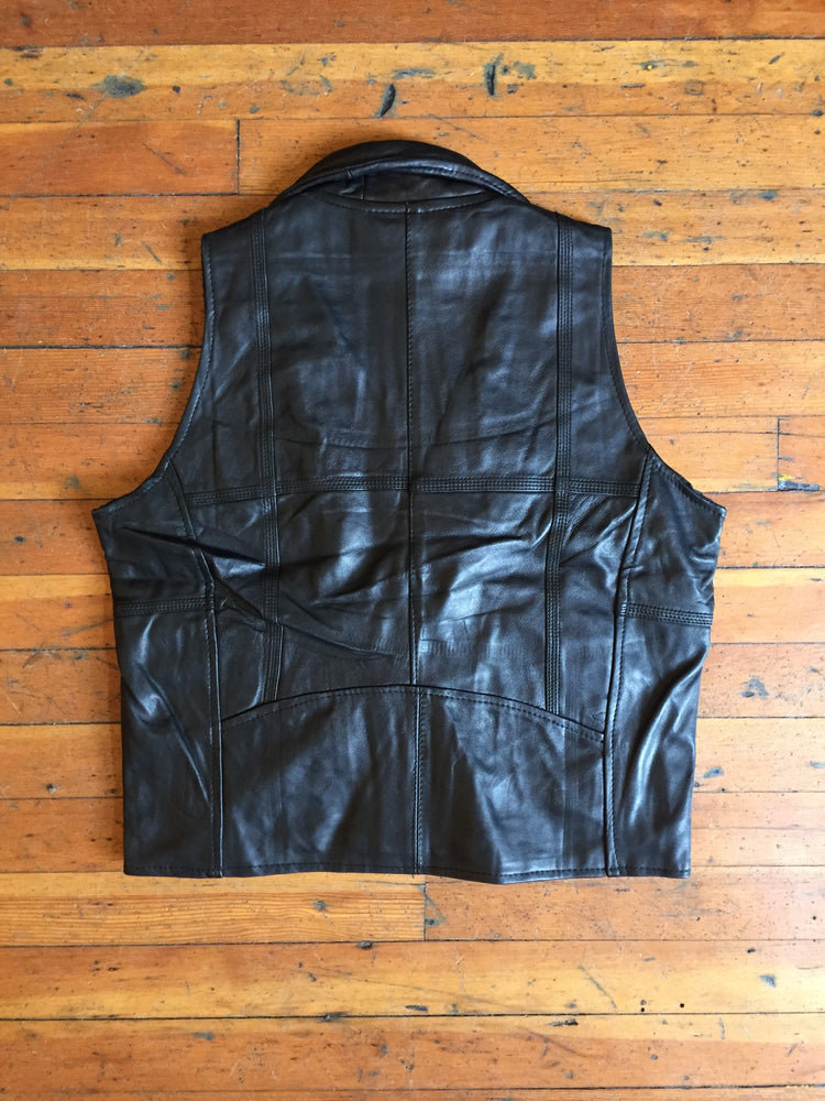 Reworked Leather Moto Vest