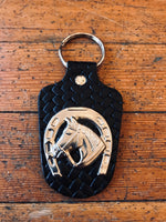 Horseshoe Concho Key Ring