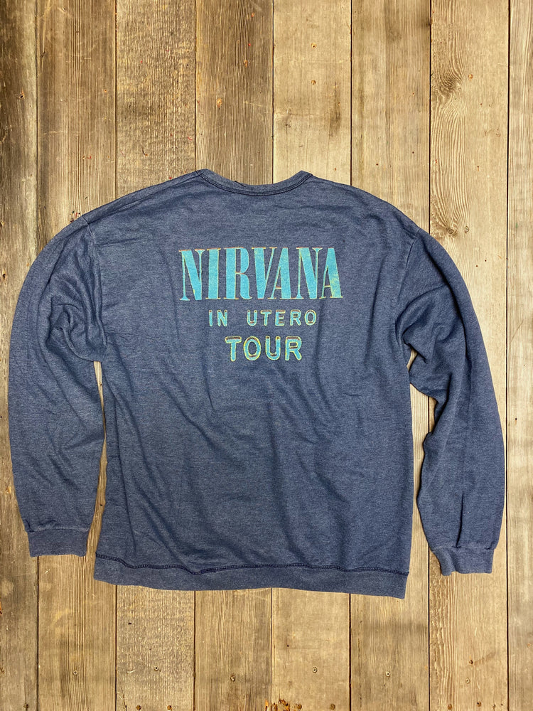 Load image into Gallery viewer, Vintage Nirvana In Utero Tour Sweatshirt