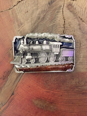 Load image into Gallery viewer, Train Engine Belt Buckle