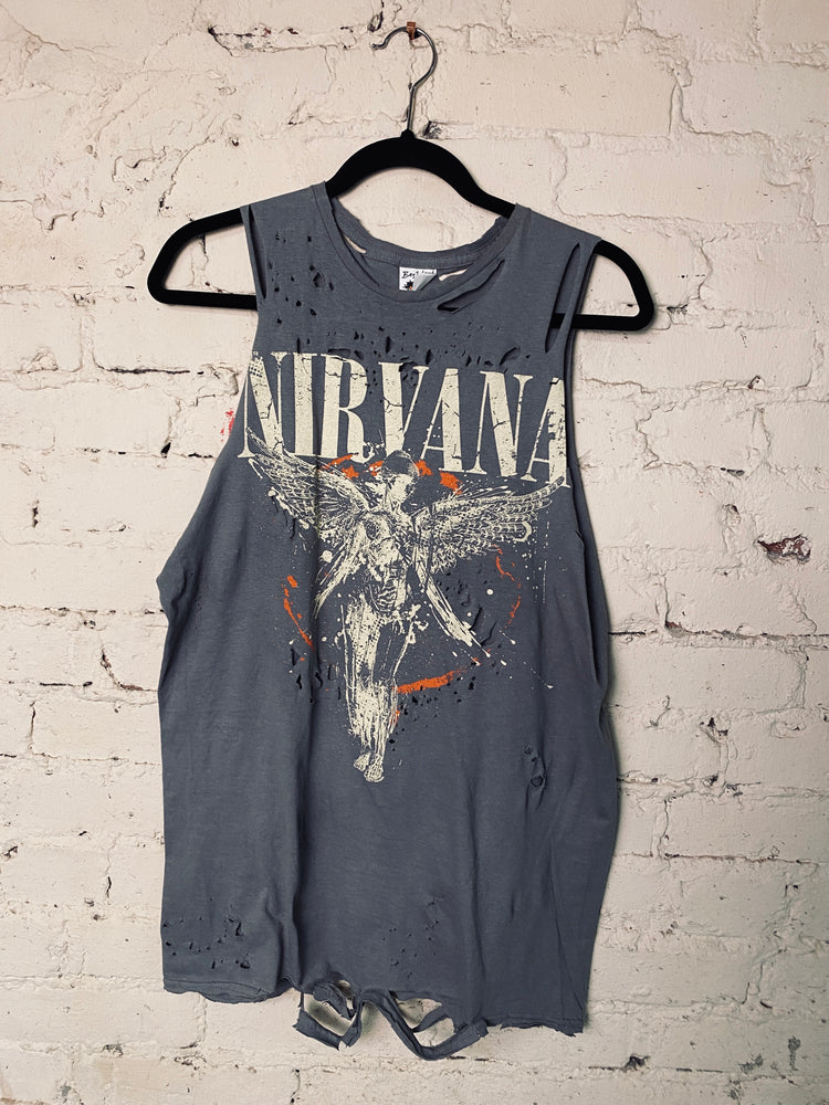 Load image into Gallery viewer, Chop Shop Nirvana Tank Sz M