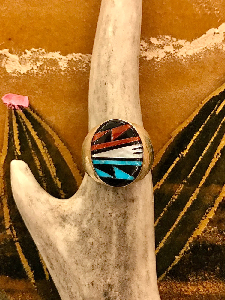 Sterling Silver and Turquoise Mateo Ring