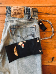 Mudflap Girl Trifold Chain Wallet