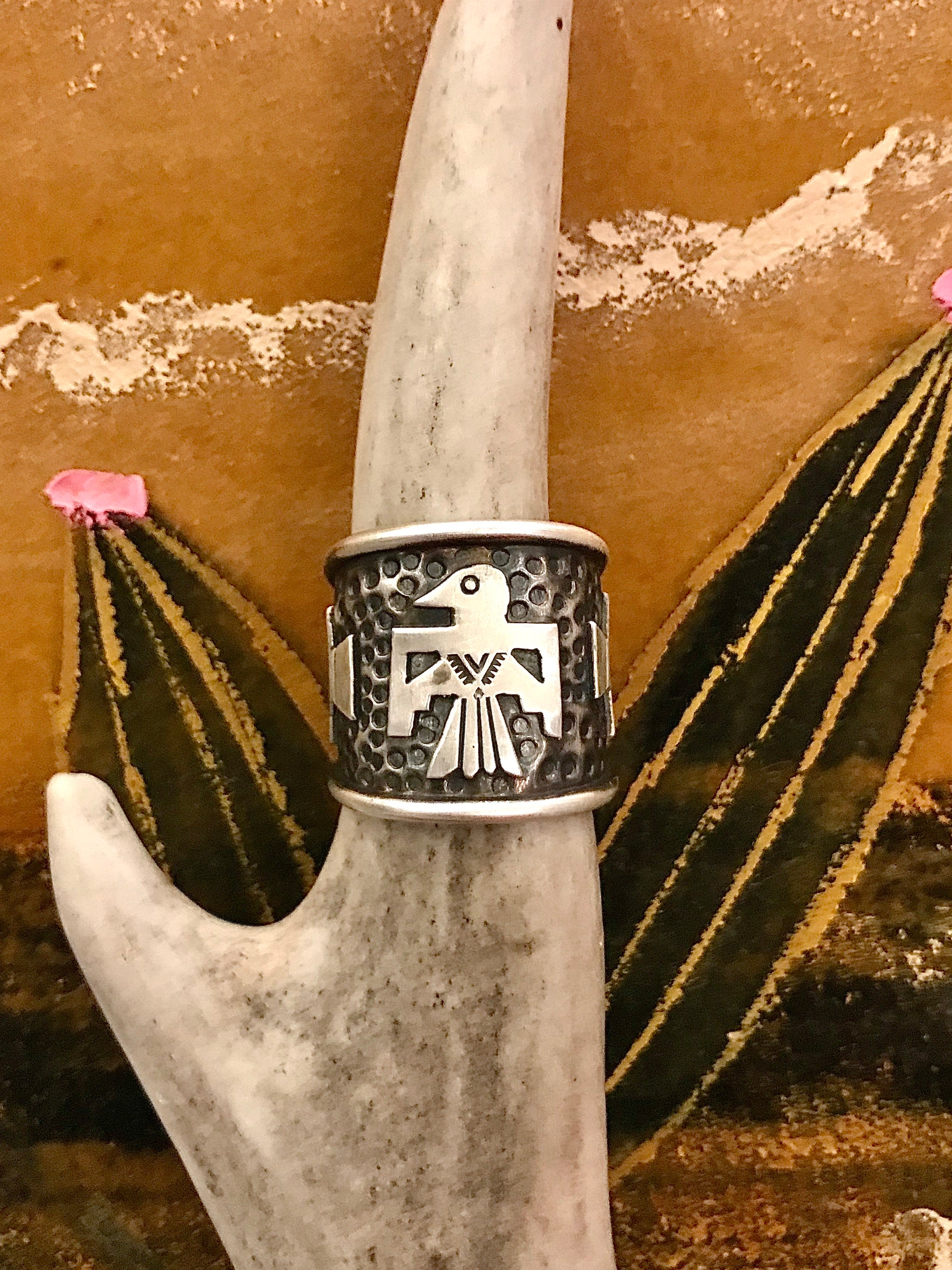 Sterling Silver Thunderbird Ring
