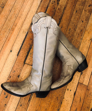 Load image into Gallery viewer, Larry Mahan Cowboy Boots W Sz 8