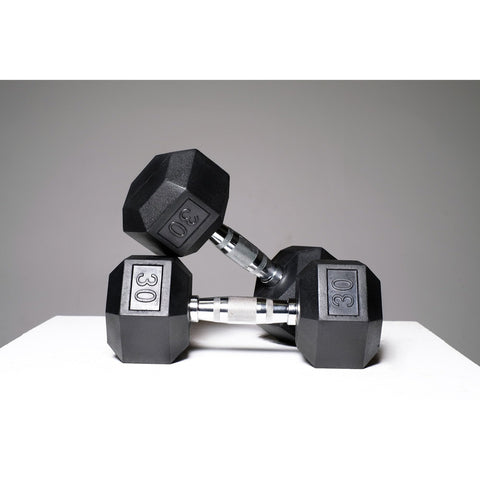 Rubber Hex Dumbbells