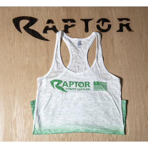 Women Tank Top Ombre White And Green