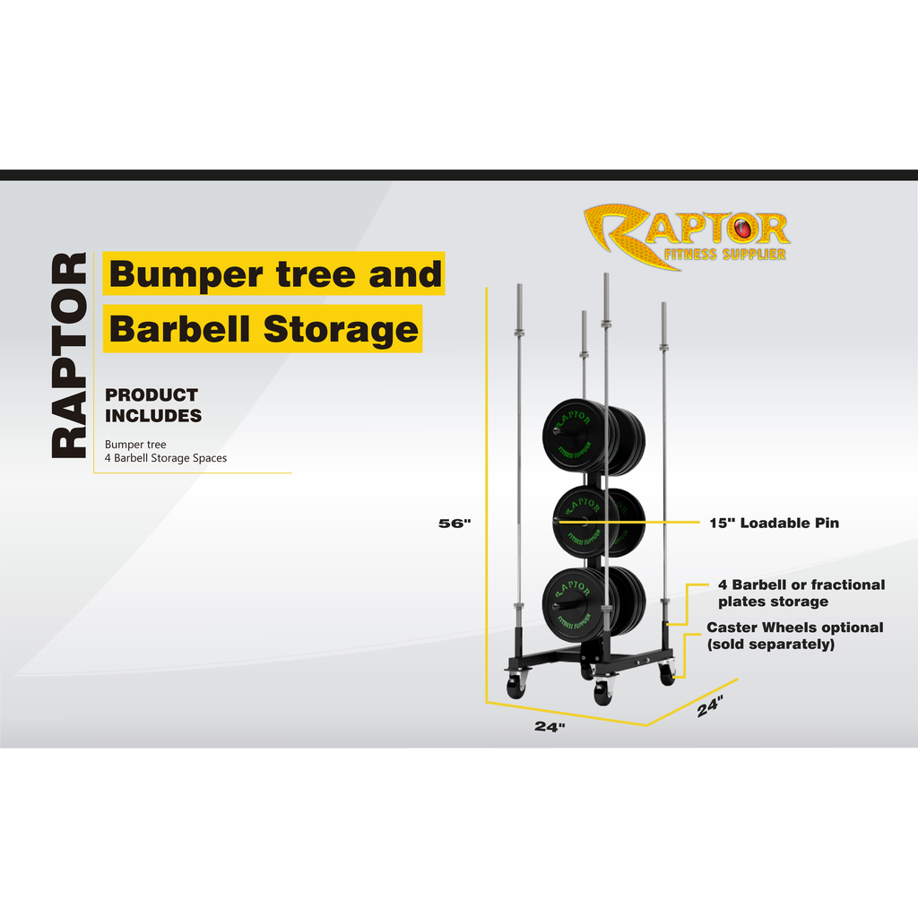 Vertical Plate Tree With Barbell Storage (Craft)