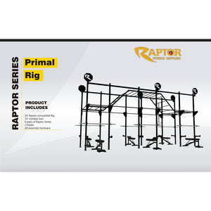 If you are into agility work, ninja style workouts, body weight moments, and acrobatics but still enjoy feeling the burn of squatting or benching a heavy barbell, the Primal Rig is the rig fit for your facility.