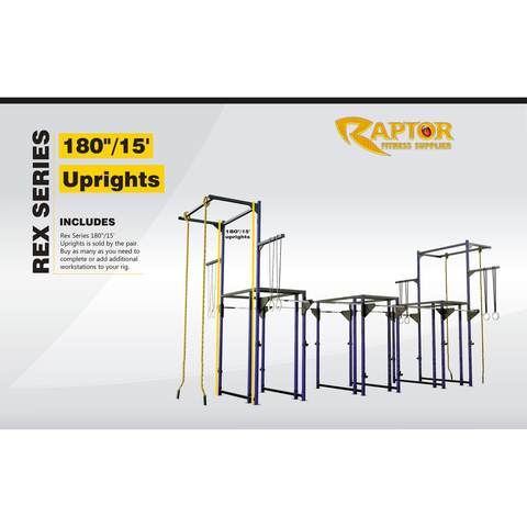 "Rex Series 180""/15' Uprights (pair)"