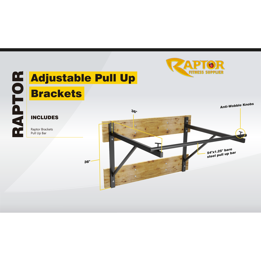 Raptor Pull Up Bar Brackets 52""