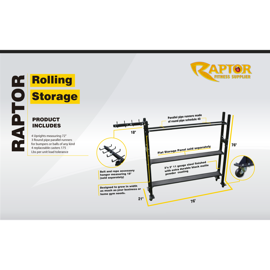 Raptor Rolling Storage Add-On 70""
