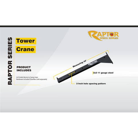 Raptor Series Ground Mounted Tower Crane and Beam Kit