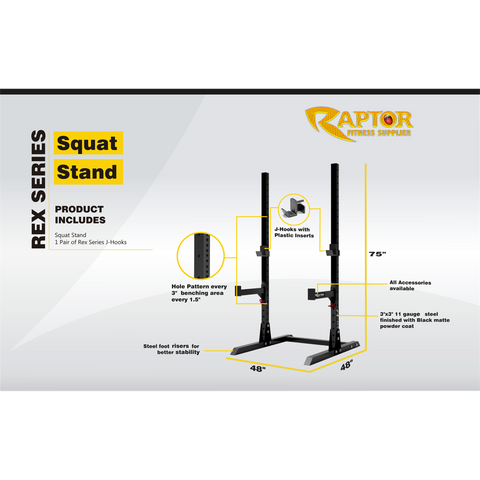 Rex Series Squat Stand (Craft)