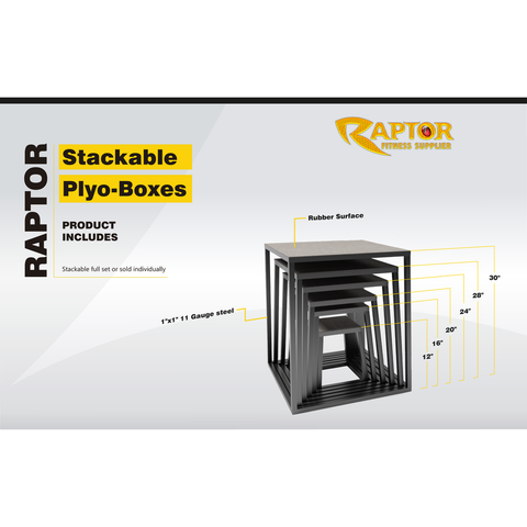 Image of Raptor Stackable Plyo-Boxes (Full Set)
