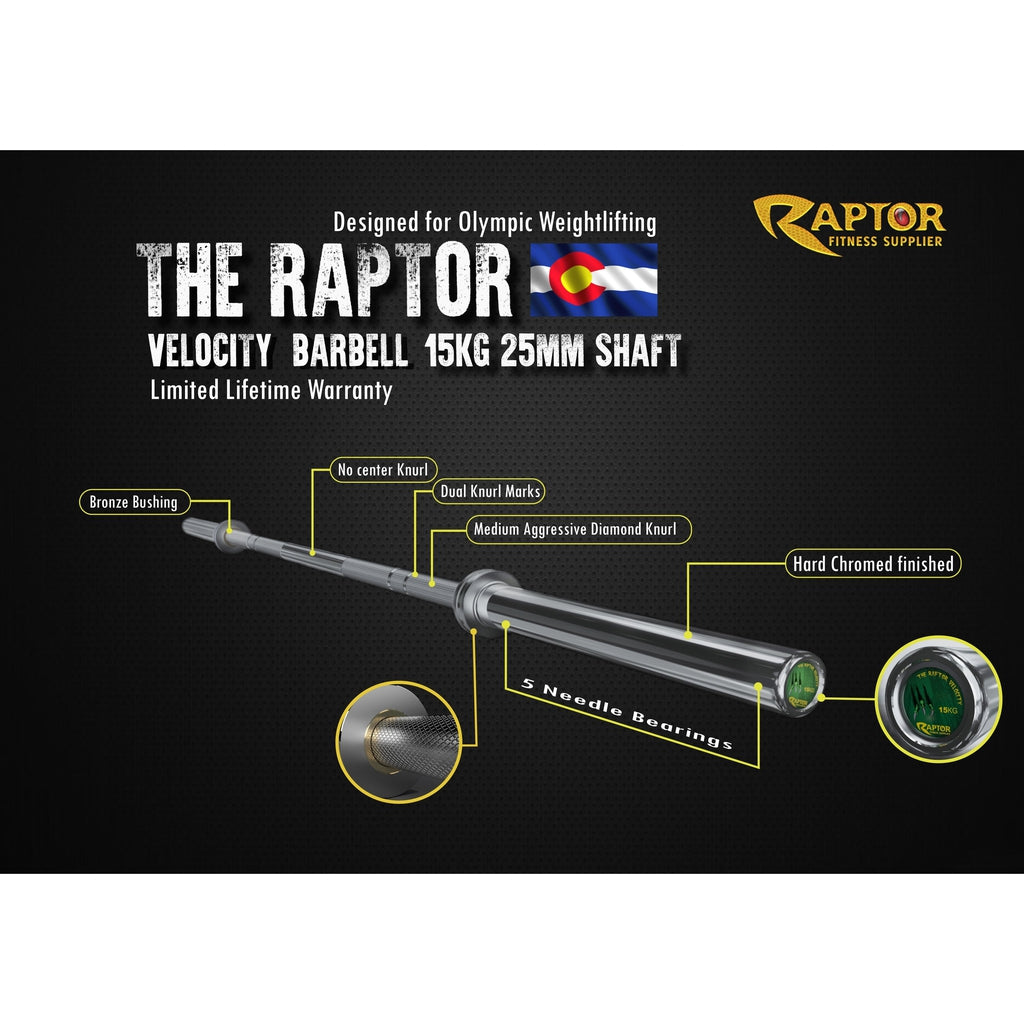 The Raptor Velocity Barbell 15 KG