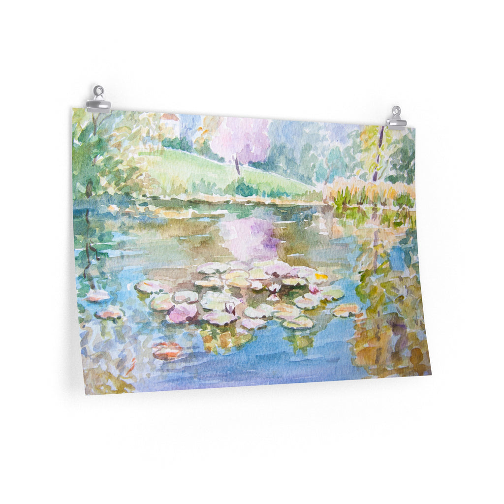 Pond of Water lilies - Poster
