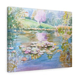 Wall Art Pond of Water lilies on Canvas - Sweden