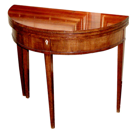 George III Inlaid Mahogany Triple-Top Games Tables
