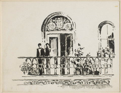 280 Balcony with two figures