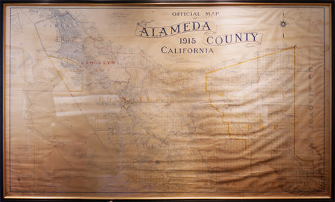 1915 Official Map of Alameda County