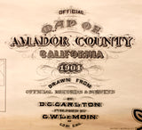 Map of Amador County, California