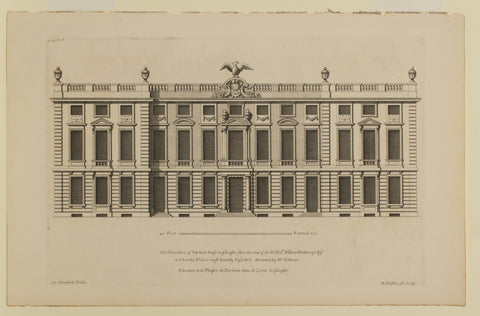 The Elevation of Dyrham house in Glocester-Shire