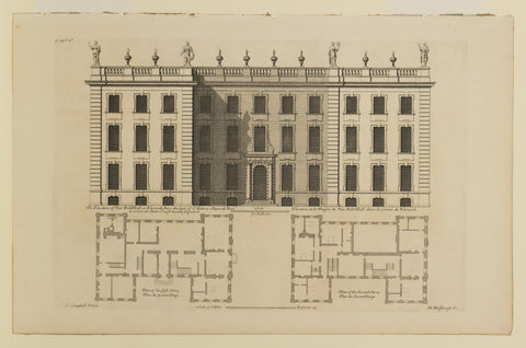 The Elevation of New Bold-Hall in Warwickshire the Seat of Sir Fulwar Skipworth, Bart.