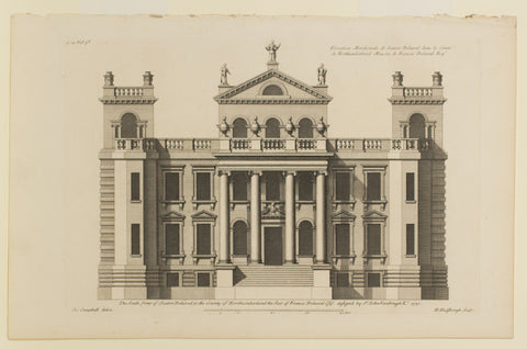 The South Front of Seaton Delaal in the County of Northumberland the Seat of Francis Delaval Esq.