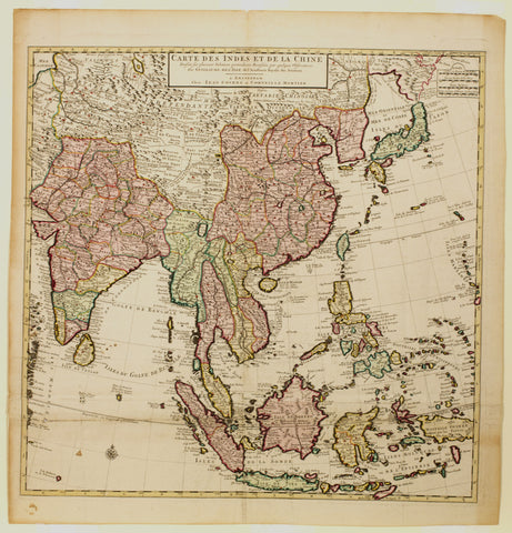 Carte des Indes et de la Chine after De L'Isle