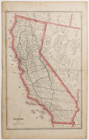 Map of California, 1883
