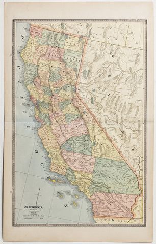Map of California, 1886