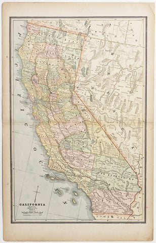 Map of California, 1887