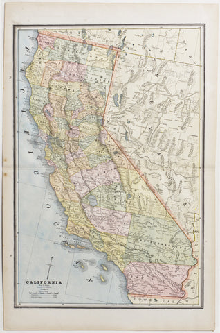 Map of California, 1888