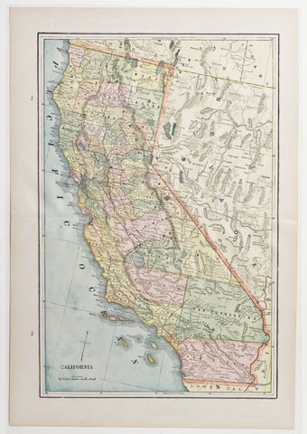 Map of California, 1891