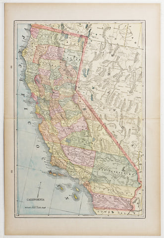 Map of California, 1894
