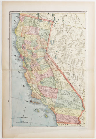 Map of California, 1898