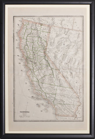Map of California, 1884