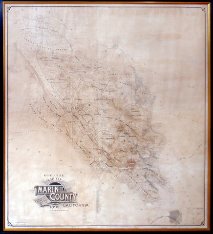 Official Map Of Marin County California 1892 Arader Galleries