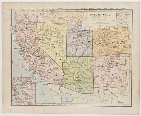 Rocky Mountains & Pacific States (c. 1887)