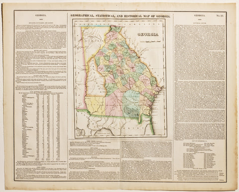 Geographical, Statistical & Historical Map of Georgia