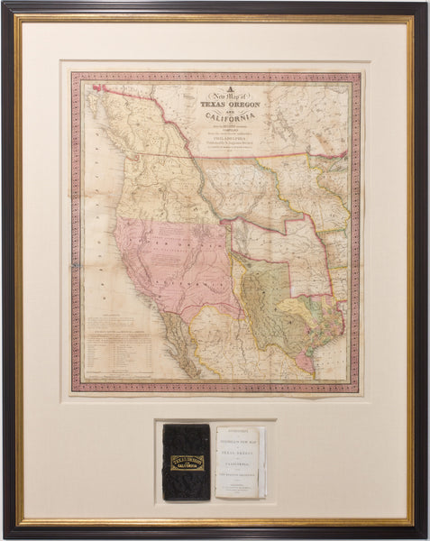 A New Map Of Texas Oregon And California Arader Galleries