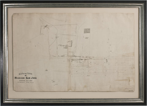 Map of the Town of Mission San Jose