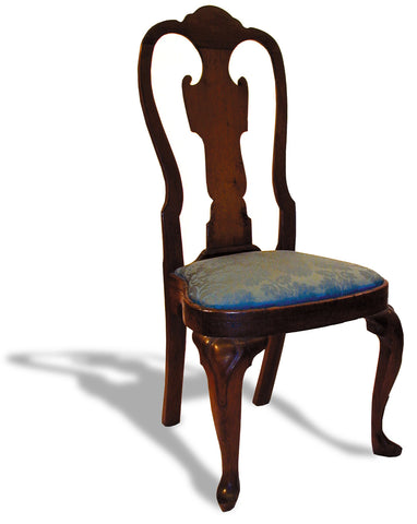 Queen Anne Walnut Side Chair - Arched Crest