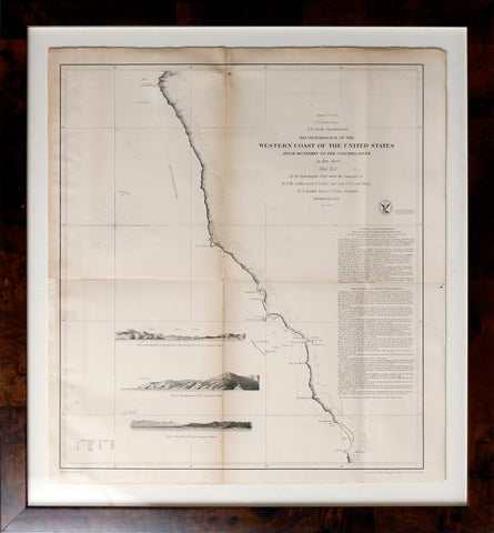 Reconnoisssance of the Western Coast of the United States from Monterey to the Columbia River - Sheet No. 1